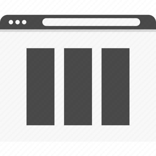 gallery, picture, website, wireframes icon