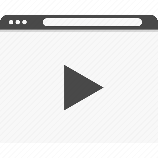 online, play, video, website, wireframes, youtube icon