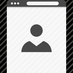 information, profile, user, website, wireframes icon