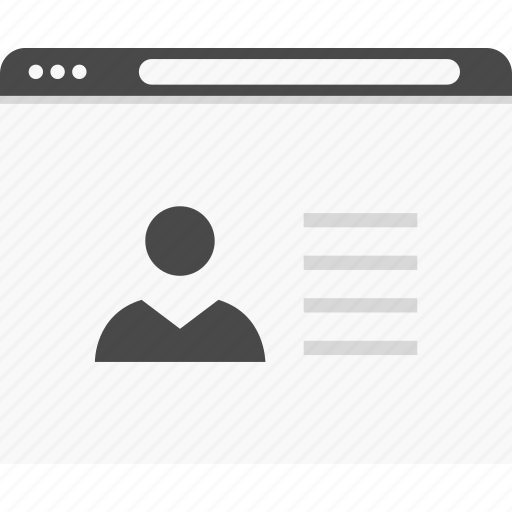 data, description, profile, user, website, wireframes icon