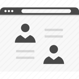 profiles, user, website, wireframes icon