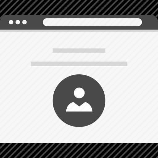 description, profile, users, website, wireframes icon