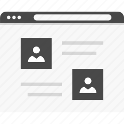 data, profiles, users, website, wireframes icon