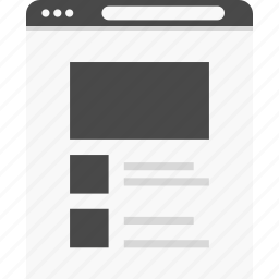 layout, web, website, wireframes icon