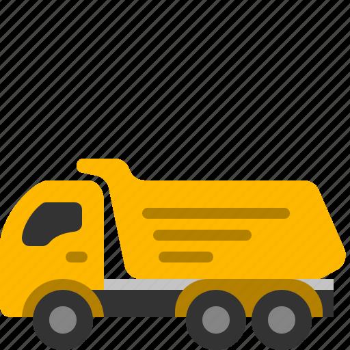 dumper, hauler, tipper, truck icon