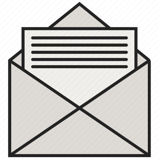 email, letter, mail, open letters icon