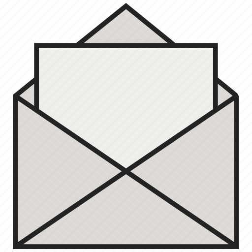 envelope, letter, mail, open letters, open mail icon