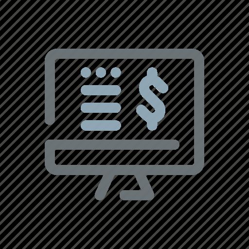 budget, e-commerce, online, revenue, sales, shop, store icon