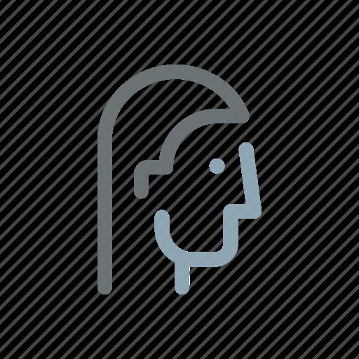 Profile, head, people, face, person, user, man icon