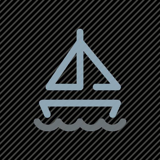boat, boating, sail, sailing, sailor, sea, traveliing icon