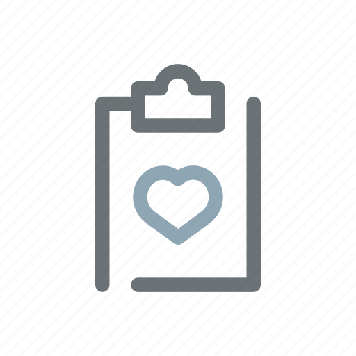 Heart, exam, cardiology, medical, results, chart, healthcare icon