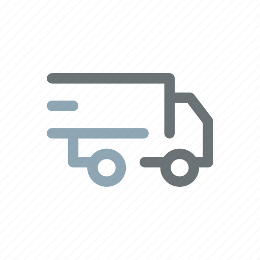 delivery, distribution, express, fast, lorry, quick, shipping icon