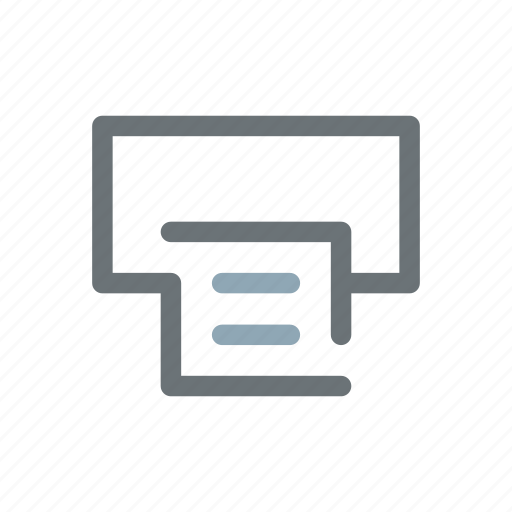 document, office, paper, portable, print, printer, printing icon