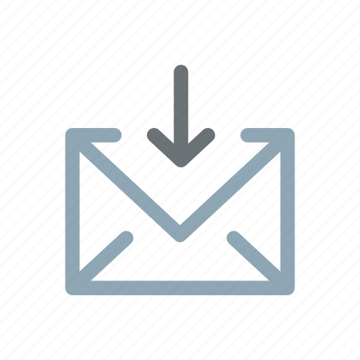 email, emailing, inbox, incoming, mail, receiving icon