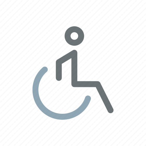 bathroom, crippled, disabled, old, paralised, patient, wheelchair icon