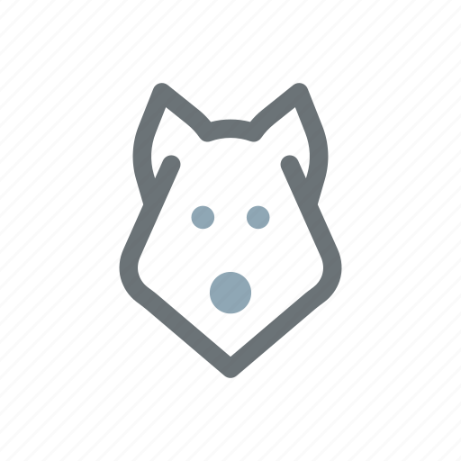 canine, dog, hound, pet, wolf icon