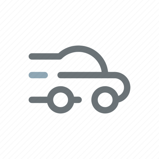 automobile, car, express, fast, quick, racing, rent icon