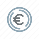 currency, euro, european, fiat, finance, sign icon