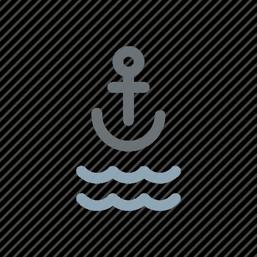 anchor, anchoring, maritime, navy, sailing, sailor, sea icon