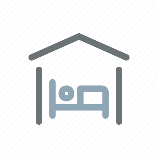 accomodation, bed, bedroom, hostel, inn, rest, sleep icon