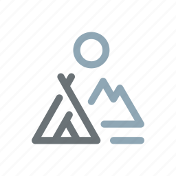 camp, camping, native, outdoors, tent, wild, wilderness icon
