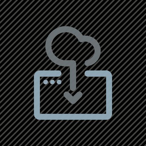 backup, cloud, computing, download, host, online, server icon
