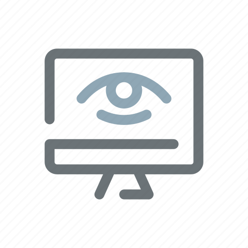hacker, online, spyware, viewer, visibility, visits, web icon