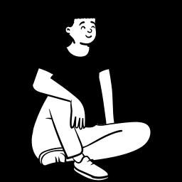 peep, sitting, person