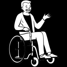 peep, sitting, wheelchair, disability