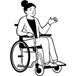peep, sitting, person, wheelchair