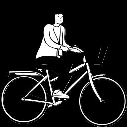 peep, sitting, bike, bicycle