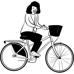peep, sitting, bike, cycling, person