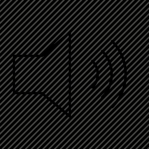 computer, interface, loud, program, speaker, user, volume icon