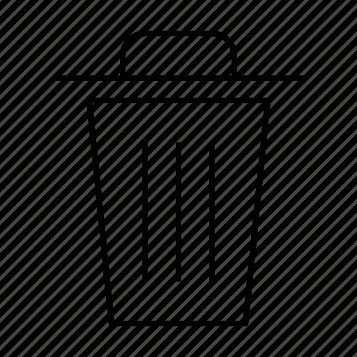 computer, erase, interface, program, trash, user icon