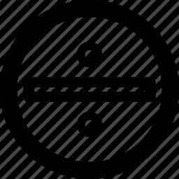 break, circle, divide, partition, split icon