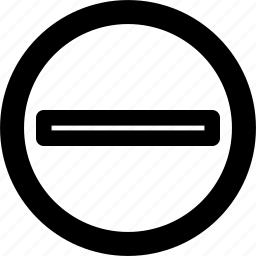 circle, close, less, minus, remove icon
