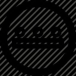 circle, less, minus, more, open icon