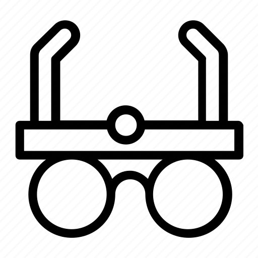 oculist, optician, optometrist eyeglasses, telescopic eyewear, vision icon