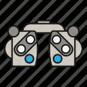 diagnosis, eye, eyesight, glasses, phoropter, refractor, vision icon