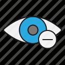 diopter, eye, eyesight, minus, myopia, shortsightedness, vision icon
