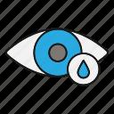 drops, eye, eyedrops, eyesight, medication, ophthalmology, vision icon