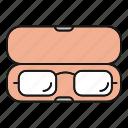 box case, case, eyeglasses, eyewear, glasses, spectacles