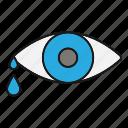 cry, drop, eye, eyesight, tear, teardrop, vision icon
