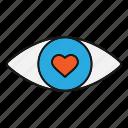 eye, eyecare, eyesight, heart, human, ophthalmology, vision