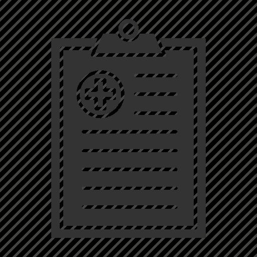 Clipboard, diagnosis, hospital, medical, paper, prescription, report icon - Download on Iconfinder