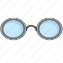 classic, eye, glasses, optics, retro icon