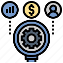 analysis, business, data, money, optimization, research icon