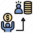 borrower, creditor, dept, loan, money, pay, payment icon