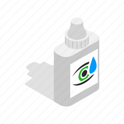 drops, eye, human, isometric, look, view, vision icon