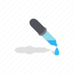 drops, human, isometric, look, pipette, view, vision icon